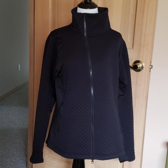 NEW BALANCE Women L Black Asymmetrical Zip Jacket